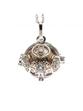 chiama angeli collana donna in bronzo e strass campanellino per gravidanza - cll1761