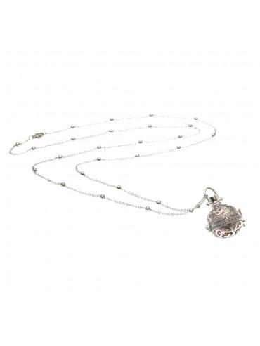 chiama angeli collana donna bronzo e strass campanellino per gravidanza - cll1760b