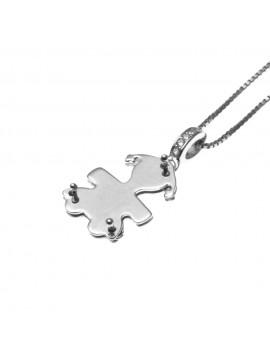 collana con bebe bambina femminuccia ciondolo in argento 925 - cll1363