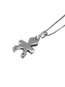 collana con bebe bambino maschietto ciondolo in argento 925 - cll1364
