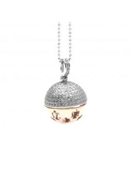 chiama angeli collana donna ciondolo per gravidanza in argento 925 e zirconi cll1584