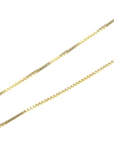 collana catenina per ciondoli veneziana cm 45 confezione da 5 pezzi - vd1245g