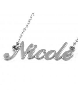 collana con nome Nicole in acciaio da donna - cll1817