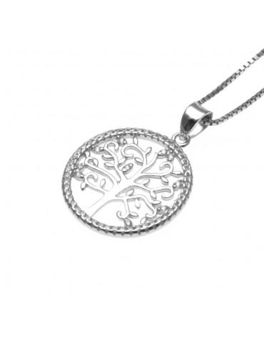 collana donna albero della vita in argento 925 e strass - cll1704