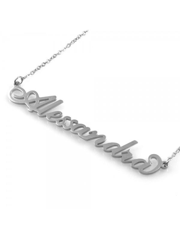 collana con nome Alessandra in acciaio da donna