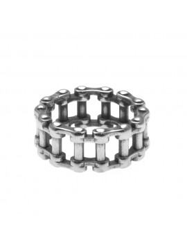 anello uomo catena moto in acciaio misura 22