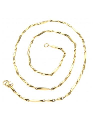 collana uomo donna in acciaio dorato - cll1087