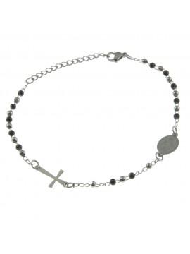 Bracciale rosario uomo in acciaio bcc0345