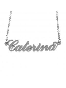 Collana con nome caterina in acciaio cll0560