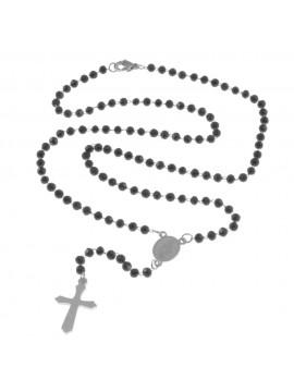 Collana rosario uomo donna acciaio cll0720