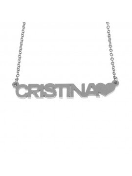Collana con nome cristina