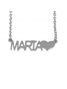 collana con nome maria in acciaio cll1331