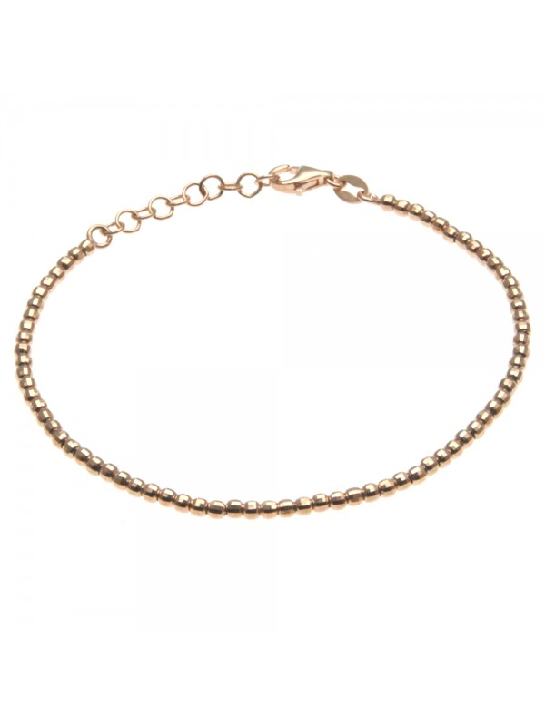 bracciale donna argento palline diamantate bcc1647