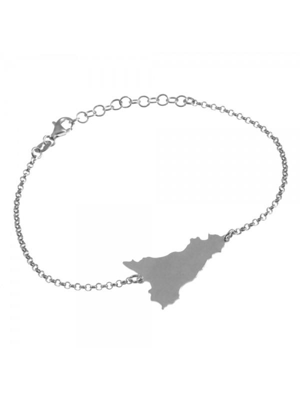bracciale con sicilia donna in argento bcc2424