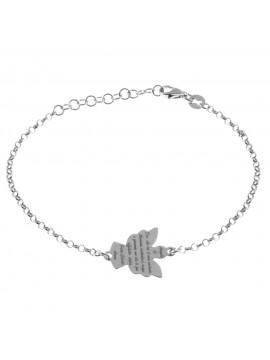 bracciale angelo custode preghiera argento 925 - bcc2114