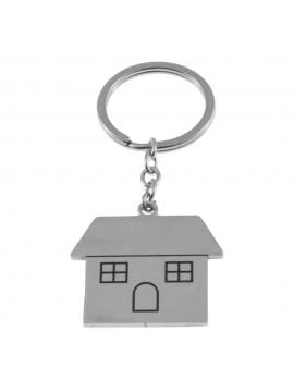 portachiavi a forma di casa in acciaio prt0221