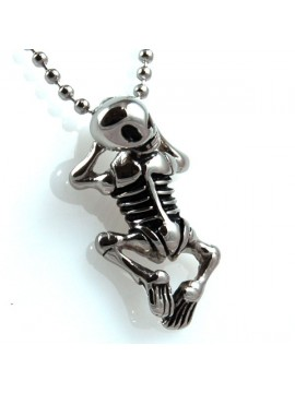 Collana con scheletro in acciaio