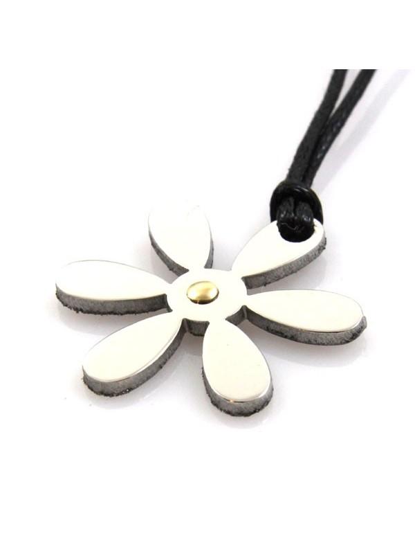 Collana fiore in acciaio